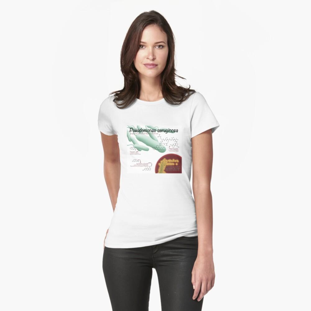 Pseudomonas aeruginosa Fitted T-Shirt