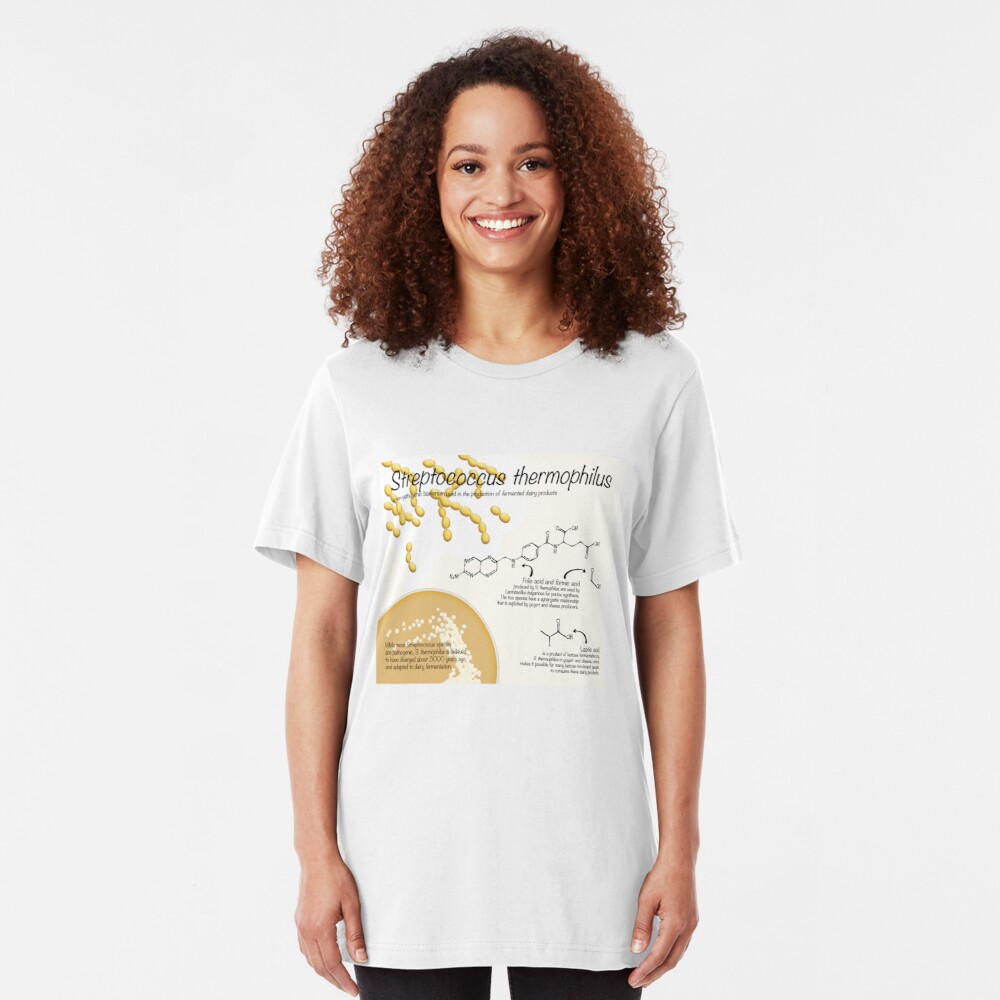 Streptococcus thermophilus Slim Fit T-Shirt