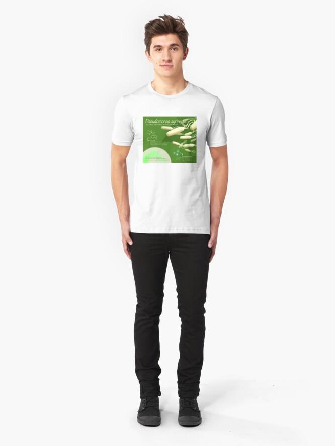 Alternate view of Pseudomonas syringae Slim Fit T-Shirt