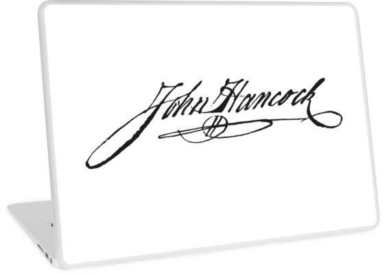 "Red John Signature: ""John Hancock Signature"" Laptop Skins By Emma-Karin"