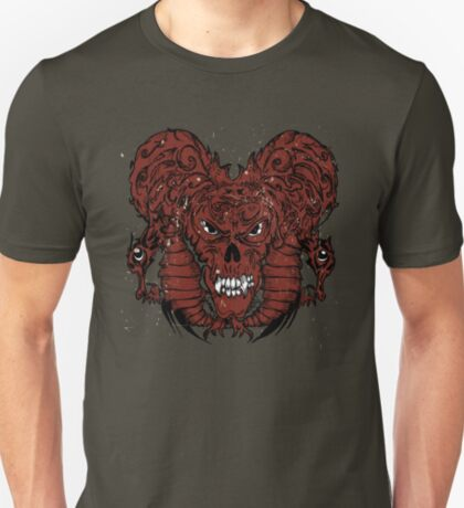 Angry Red Monster Skull T-Shirt