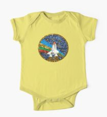 glitter space ship Kids Clothes