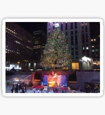 Christmas Tree, Skating Rink, Rockefeller Center, New York City Sticker