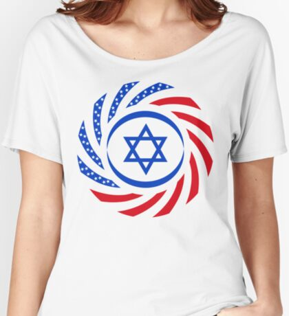 Israeli American Multinational Patriot Flag  Relaxed Fit T-Shirt