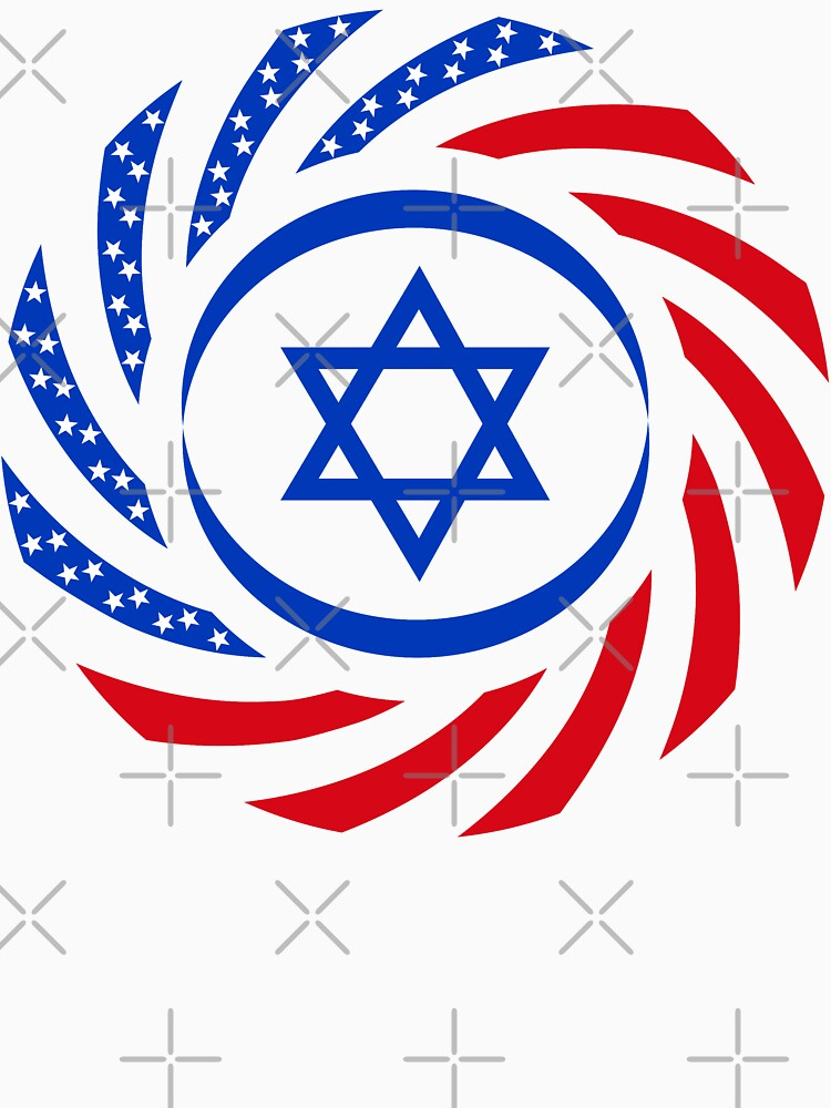 Israeli American Multinational Patriot Flag 1.0 by carbonfibreme
