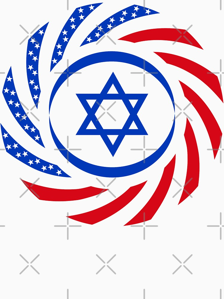Israeli American Multinational Patriot Flag  by carbonfibreme