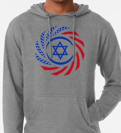 Israeli American Multinational Patriot Flag  Lightweight Hoodie