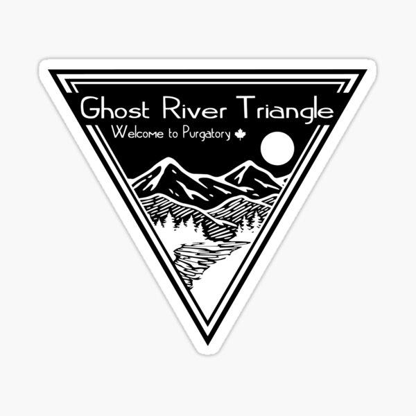 Wynonna Earp- Triángulo del río fantasma (blanco) Pegatina