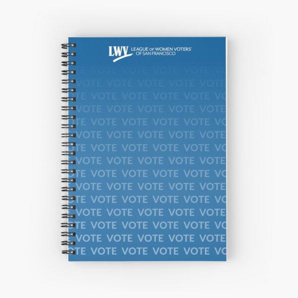 VOTE VOTE VOTE - blue Spiral Notebook