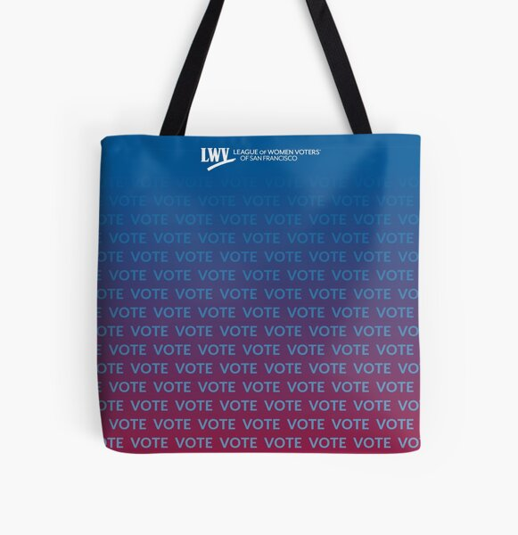VOTE VOTE VOTE - blue and red All Over Print Tote Bag