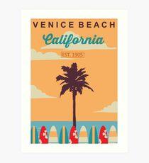 Venice Beach - Kalifornien. Kunstdruck