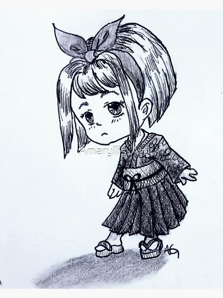 Chibi Japanese Girl by Amaryllis-Art