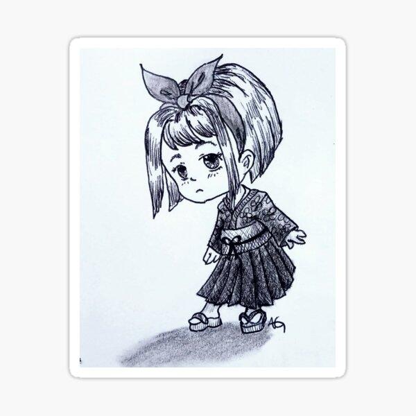 Chibi Japanese Girl Sticker
