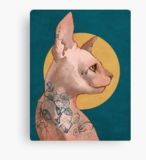 Tattoo Sphinx Cat Canvas Print