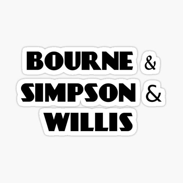 bourne & simpson & willis Sticker