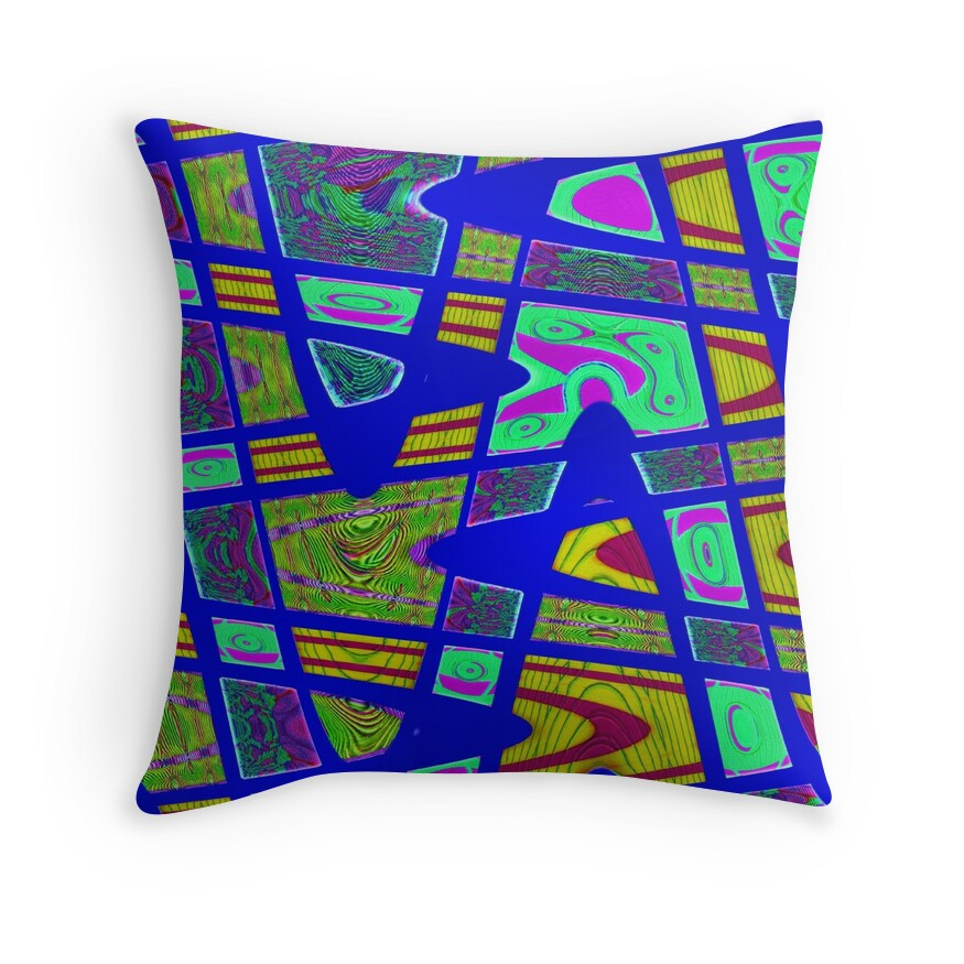 Bright Blue Decorative Pillow :