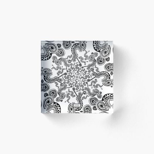 Edge Entity Pattern Acrylic Block