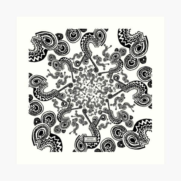 Edge Entity Pattern Art Print