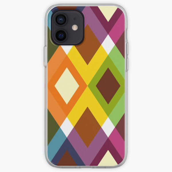 Geometric Pattern 19 (coloful diamonds) iPhone Soft Case