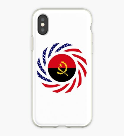 Angolan American Multinational Patriot Flag iPhone Case
