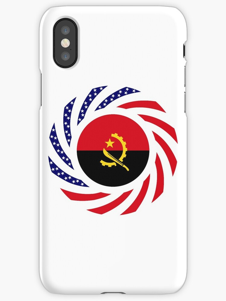Angolan American Multinational Patriot Flag by Carbon-Fibre Media