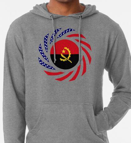 Angolan American Multinational Patriot Flag Lightweight Hoodie