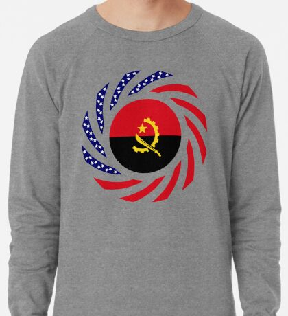 Angolan American Multinational Patriot Flag Lightweight Sweatshirt