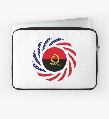 Angolan American Multinational Patriot Flag Laptop Sleeve