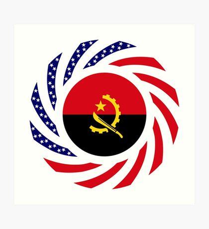 Angolan American Multinational Patriot Flag Art Print