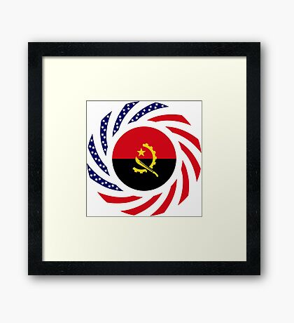 Angolan American Multinational Patriot Flag Framed Print