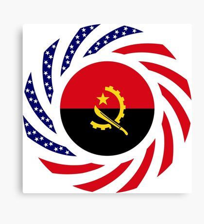 Angolan American Multinational Patriot Flag Canvas Print