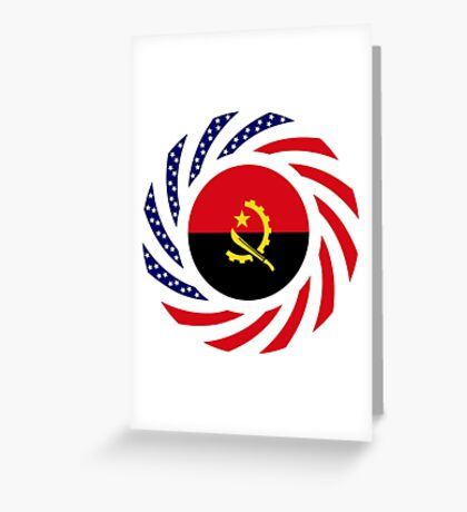 Angolan American Multinational Patriot Flag Greeting Card
