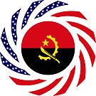 Angolan American Multinational Patriot Flag by Carbon-Fibre Media