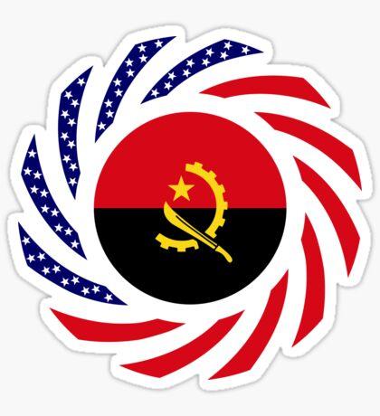 Angolan American Multinational Patriot Flag Sticker