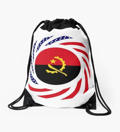 Angolan American Multinational Patriot Flag Drawstring Bag