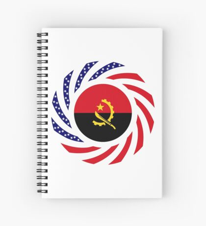 Angolan American Multinational Patriot Flag Spiral Notebook