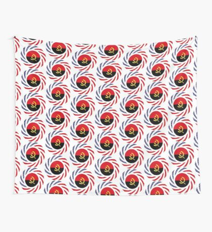 Angolan American Multinational Patriot Flag Wall Tapestry