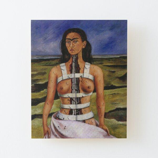 The Broken Column by Frida Kahlo Wood Mounted Print