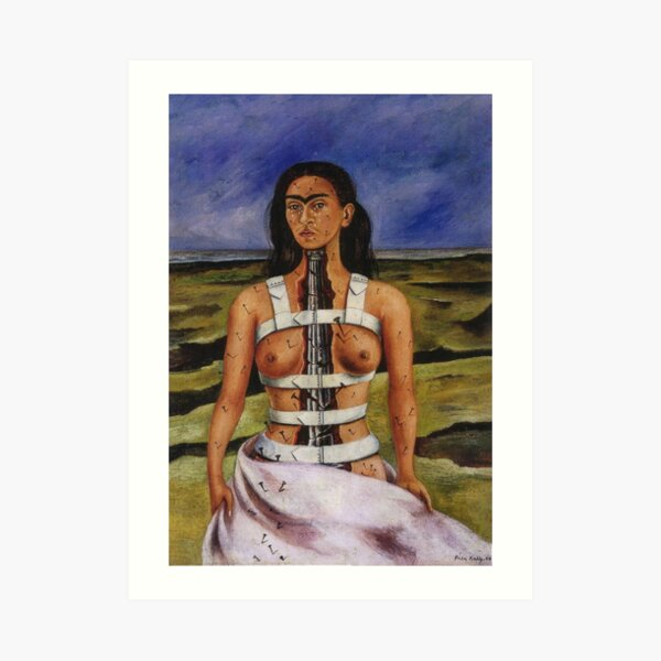 The Broken Column by Frida Kahlo Art Print