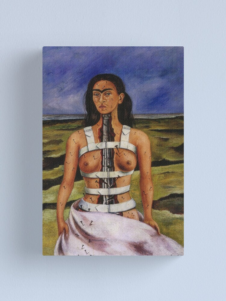 Alternate view of The Broken Column by Frida Kahlo Canvas Print