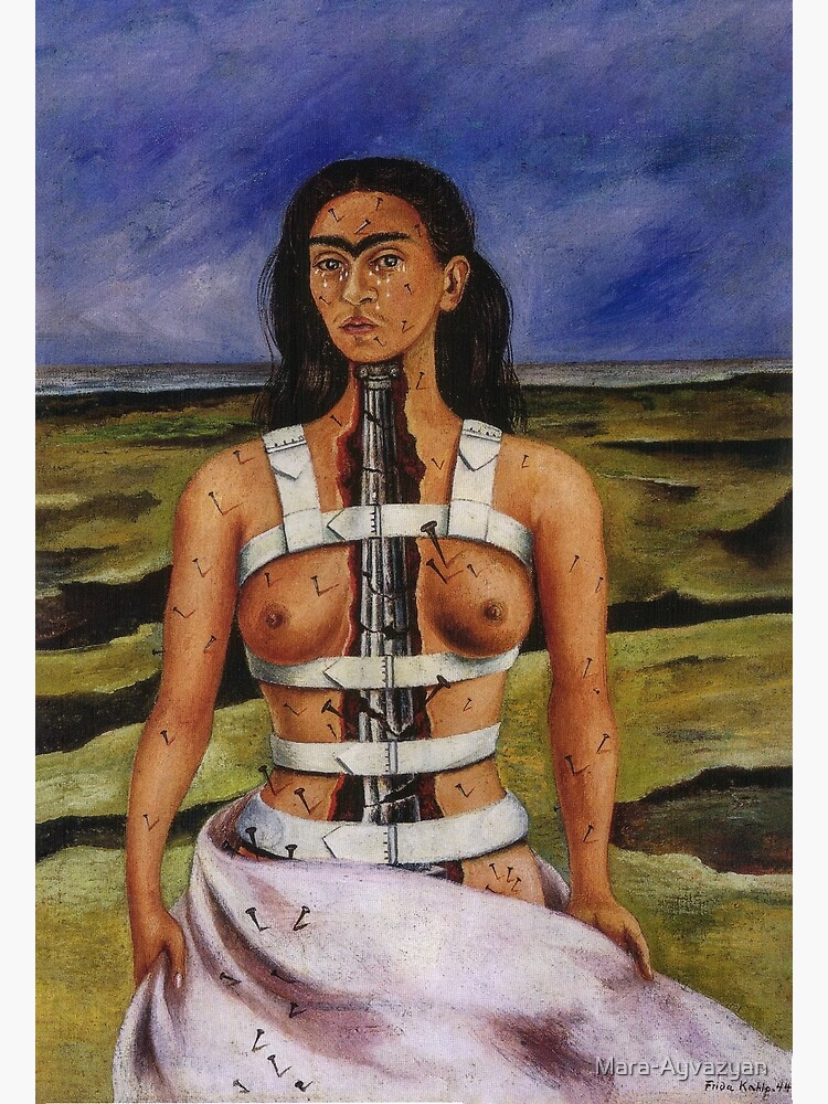 The Broken Column by Frida Kahlo by Mara-Ayvazyan