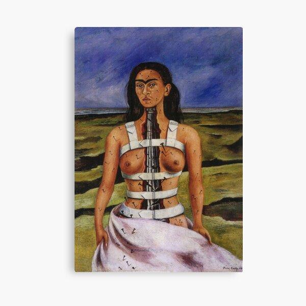 La colonne brisée par Frida Kahlo Impression sur toile