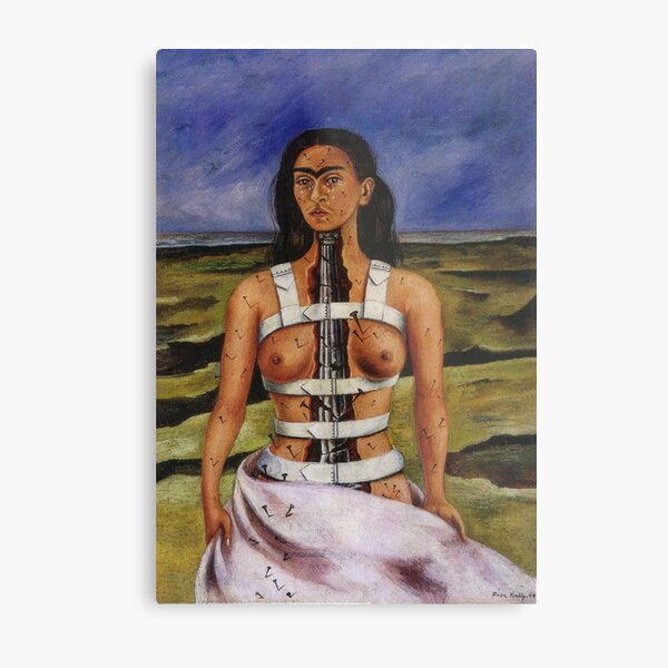 The Broken Column by Frida Kahlo Metal Print