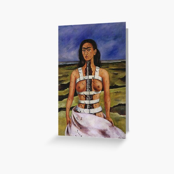 The Broken Column by Frida Kahlo Greeting Card