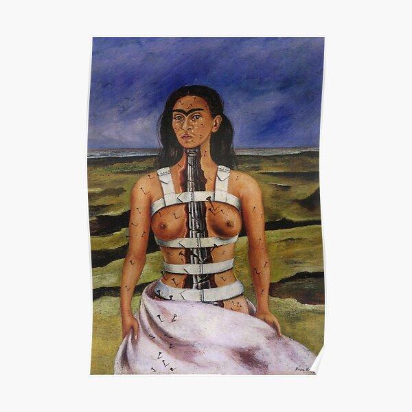 La colonne brisée par Frida Kahlo Poster