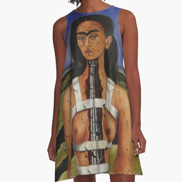 The Broken Column by Frida Kahlo A-Line Dress