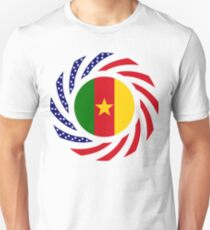 Cameroon American Multinational Patriot Flag Series 1.0 Slim Fit T-Shirt