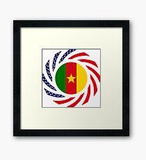Cameroon American Multinational Patriot Flag Series 1.0 Framed Print