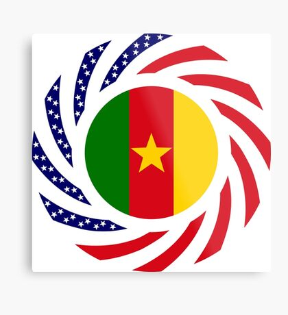 Cameroon American Multinational Patriot Flag Series 1.0 Metal Print