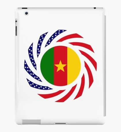 Cameroon American Multinational Patriot Flag Series 1.0 iPad Case/Skin